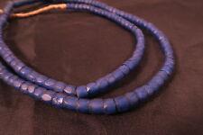Antica perline di vetro boemia blu TRANSP e Antique Russian Blue trade beads afrozip