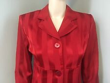 Alyn Paige Red Striped Skirt Suit