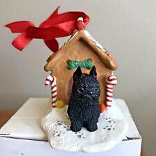 Brussels Griffon Christmas Ornament Gingerbread Black Dog Ornament New