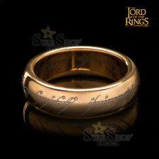 LORD OF THE RINGS - The One Ring Unico Anello Gold Plated Tungsten Size 10 Weta