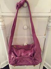 Unique Junior Drake Bright Purple/pink Leather Hobo Shoulder Bag See Description