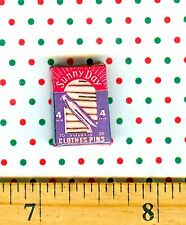 Dollhouse MINIATURE Size Clothespin Box