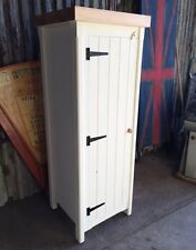 Solid Pine Handmade Rustic Shabby Chic Single Broom Cupboard Great Storage Unit