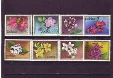 POLAND - SG2197-2204 MNH 1972 FLOWERING SHRUBS
