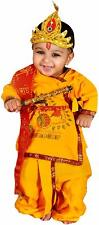 Krishna Kids Costume Ethnic Wear Dress Pack- Kurta Dhoti Bansuri Mukut Dupatta