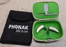 Pair  2 Phonak Audeo V90 BTE RIC 312 Hearing Aids - Excellent