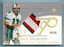 DAN MARINO 2003 ULTIMATE COLLECTION 3 COLOR NAMEPLATE PATCH /25 DOLPHINS