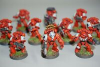 Warhammer 40k Space MarineTactical Squad x 10 Marines Painted & Based LOT 135