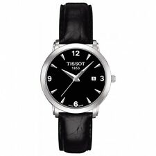 TISSOT T-CLASSIC EVERYTIME BLACK DIAL DATE LADIES WATCH T057.210.16.057.00 NEW