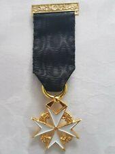More details for masonic regalia-masonic jewels-knights of malta member breast jewel (brand new)