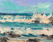 Pacific Kool One Original Expression Seascape Oil Painting 8x10 101418 KEN