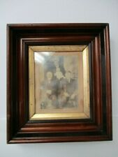 "ANTIQUE VICTORIAN WALNUT FRAME for 8x10"" DEEP 3"" WITH GOLD LINER & 19th C PHOTO"