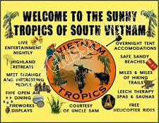"""Very Rare """"Welcome To The Sunny Tropics"""" Of South Vietnam Full-Color Poster"""