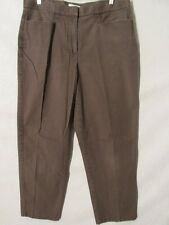 F2137 Christopher & Banks Brown Cool Stretch Relaxed Pants Women's 35x29
