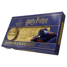 Harry Potter 24k Gold Plated Hogwarts Express Ticket Replica - 2000 Ltd Run