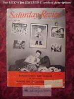 Saturday Review Magazine May 17 1958 SIMONE de BEAUVOIR WILLIAM D. PATTERSON