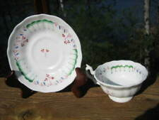 ANTIQUE HAND PAINTED TEACUP AND SAUCER