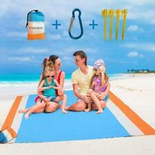 Large Beach Blanket, Portable Compact Lightweight Sand-less Beach Mat 82 x 79 in