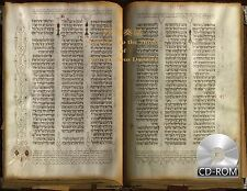 Hebrew Bible manuscript 1280 AD 340 large-format folios
