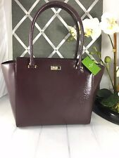NWT Authentic KATE SPADE camryn bixby place WKRU4058 Leather Handbag Mahogany