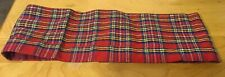 Vtg Red Plaid Silk Cumberbund