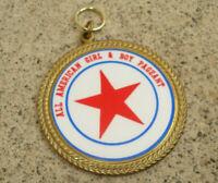 "ALL AMERICAN GIRL & BOY PAGEANT Award Token Medal Contest Brass 2"" Diameter"