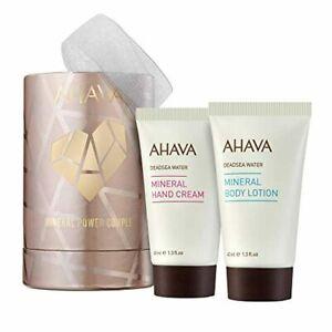 ✅ AHAVA Mineral Power Couple Value Set | Dead Sea Mineral Hand Cream & Minerea