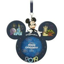 New listing Disney Parks 2019 Mickey Mouse Christmas Disney World Icon Frame Ornament