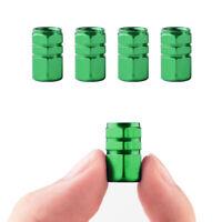 4 PCS green Aluminum Car Tire Wheel Rims Stem Air Valve Caps Cover Reflective
