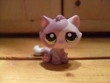 Littlest Pet Shop Tabby Cat #1660 Mauve Pink Kitten 100% Authentic 2006