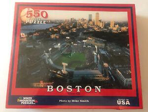 BRAND NEW WHITE MOUNTAIN JIGSAW PUZZLE BOSTON RED SOX FENWAY PARK 550 PCS