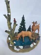"LEMAX VILLAGE COLLECTION DEERS ""TESTING THE WATER"" 2000  # 03337A"