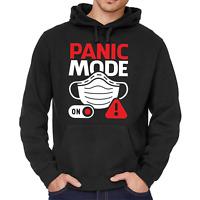 PANIC MODE ON Mundschutz Schutzmaske Spaß Fun Kapuzenpullover Hoodie Sweatshirt