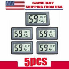 US 5 PCS Digital LCD Indoor Temperature Humidity Meter Thermometer Hygrometer