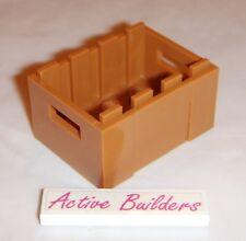 2x Lego Crate Container 3 x 4 Medium Dark Flesh 41118 Market