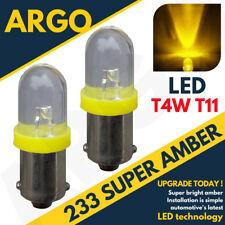 2 X 233 LED Ámbar Trasero Bombillas BA9S TW4 Piaggio-Vespa Ciao 50L (C7E1T)