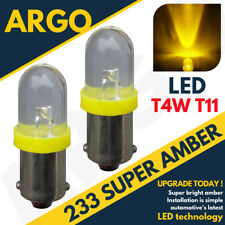 2x 233 BA9S T4W Led Ámbar Frontal Lámpara Intermitente Bombillas Xenon Haz 12V