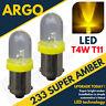 233 T4w Ba9s T11 Mcc Rw233 Super LED Xenon Poder Ámbar Hid Luz Lateral Bombillas