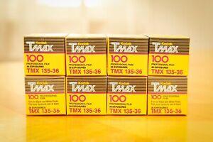 8 rolls of Kodak TMax100 expired 35mm film