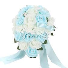 Wedding Foam Flower Crystal Bridal Bouquet Bride Bridesmaid Girl Wand Decor