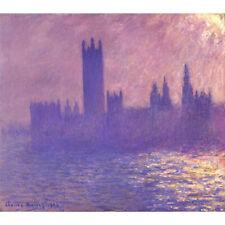 Wooden Jigsaw Puzzles 500 PCS House of Parliament Sunligh Effect Claude Monet