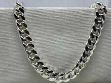 GENUINE 925 Solid Sterling Silver Men's Cuban 6mmChain Necklace All Sizes NEW