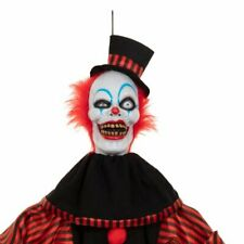 Life Size Halloween Witch Clown Animated Lights Sound Haunted House Prop Decor