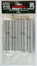 "Kato N Scale UNITRAM Street Track Straight 124mm (4 7/8"") 2/pc NEW 40-020"