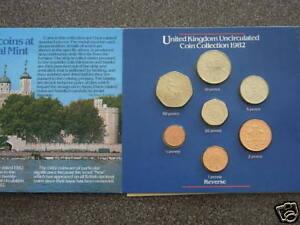 1982 UK DECIMAL BU UNC ROYAL MINT 7 COIN COLLECTION