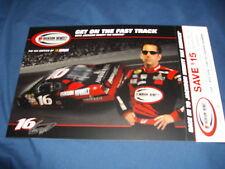 2007 GREG BIFFLE #16 JACKSON HEWITT NASCAR POSTCARD