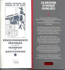 TINTIN HERGE FAC SIMILE PUBLICITAIRE S.N.C.B TRAINS EPUISE