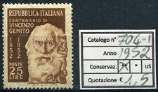 1952 Vincenzo Gemito centenario nascita - 1 valore NUOVO MNH Repubblica 704