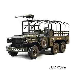 Handmade Dodge M35 Ten Wheel US Military Truck 1:12 Antique Style Metal Model