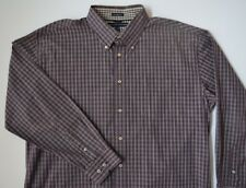 EUC Tommy Hilfiger Long Sleeved Button Down Shirt 80s 2 Ply Fabric Mens Xl